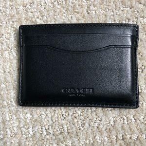 COACH CARD CASE - Black